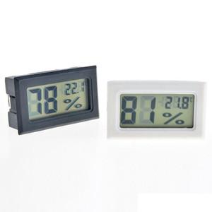 2021 Yeni Siyah / Beyaz FY-11 Mini Dijital LCD Çevre Termometre Higrometre Nem Sıcaklık Ölçer Oda buzdolabı Icebox LLA377