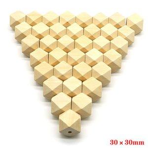 Ahşap Spacer Boncuk Doğal Bitmemiş Geometrik Takı DIY Ahşap Kolye Yapımı Bulguları 100 adet / grup 10-20mm