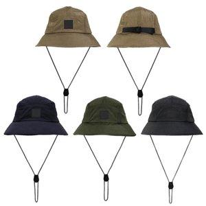 Yeni Stil Kova Şapka Katlanabilir Balıkçı Şapka Unisex Açık Sunhat Yürüyüş Tırmanışı Avcılık Plaj Balıkçılık Kapaklar Ayarlanabilir Erkekler Çizim Dize Kap