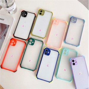 Coques de TPU Hybrid TPU de couleur antichoc pour iPhone 12 Couverture arrière transparente anti-choc