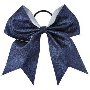 Bling Bling Bling Sequin Cheerleading Hair Bow Glitter Solid Bows Упругие полосы для волос Понит для волос для девочек и женщин