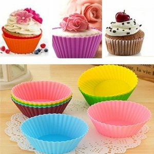 Silicone Muffin Cake Cupcake Cup Cakes Mould Case Bakeware Maker Mold Tray Baking Jumbo ZWL432