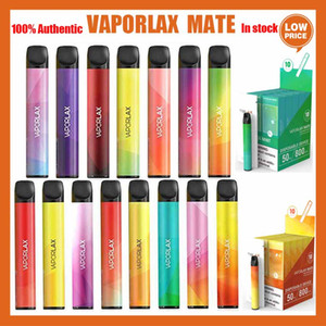 100% original vaporlax mate 800puffs Dispositivo vape desechable Vape 3ML Cartucho POD 500mAh Batería 800 Puff Vape Vacipe PL PK BAR PLUS AUTÉNICA