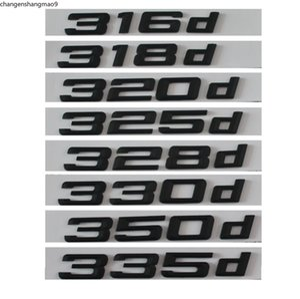 Black 316d 318d 320d 325d 328d 330d 335d Car Emblem Emblems Rear Number Letters Badges for BMW 3 series E90 E46 E91 E92 E93 F30