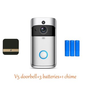 WiiFi Doorbell V5 Smart Home Door Bell Chime 720P HD Camera Real-Time Video Two-Way Audio Indoors Outdoors Night Vision PIR Motion Detection