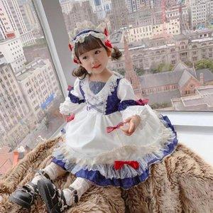 Miayii Baby Kleidung Spanische Lolita Bogen Spitze Nähen Süße niedliche Prinzessin Ballkleid Geburtstagsfeier Ostern Kleid Für Mädchen Y3823