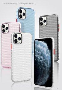 Casos de telefone de favo de mel transparente Espaço Anti-Fall Clear Soft TPU 2.0mm Caso à prova de choque para iphone 11 pro máximo xr xs x 8 7 6 mais samsung nota 10 10+