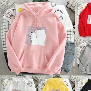Hoodie oversized print Kangaroo Pocket Sweatshirts Hooded Harajuku Spring Casual Vintage Korean Pullovers Women sweatshirt