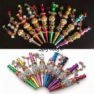 Shisha Hookah tips Sheesha Chicha Narguile Hose Accessories Handmade Inlaid Jewelry Hookah Mouthpiece Shisha Metal Mouth Tips blunt holder