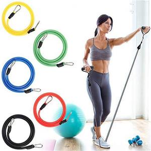 11 adet / takım Lateks Direnç Bantları CrossFit Eğitim Egzersiz Yoga Tüpleri Çekin Halat Kauçuk Genişletici Elastik Bantlar Fitness Ekipmanları 78 V2