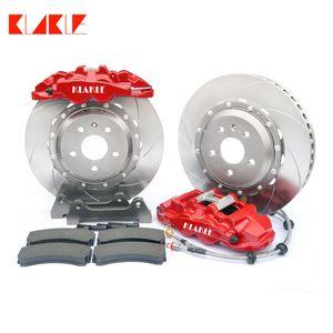 KLAKLE 8560 Brakes kit 4 Big Pot Brake Caliper 380*32MM Durable Car Disc 20 Inches Front Wheel For ford focus