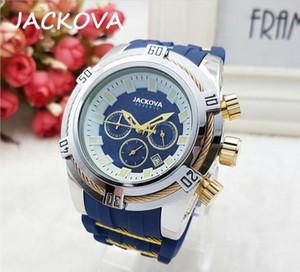 Cheap Running Stopwatch Mens Watches Luxury Quartz Calendar Wristwatches Silicone Rubber Fashion Business Men Watch