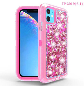Quicksand Transparent Bling liquid Glitter Protective Cover Shockproof Mobile Phone Case For iPhone XS XR 11 PRO MAX 12 for Samsung S20 plus