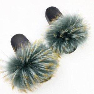 Rass Ple 2019 Femmes Véritable Pantoufles Pantoufles moelleuses Diapositives Sliders Fuzzy Sliders Soft Peluchers Flip Flop Mule Summer Shoes Boots Bearpaw G6FE #