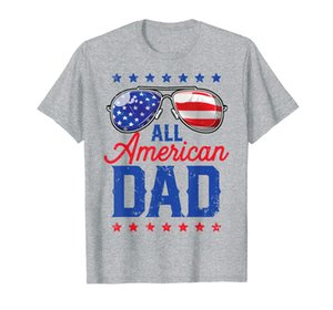 All American Dad 4th of July Men Family Matching Sunglasses T-Shirt