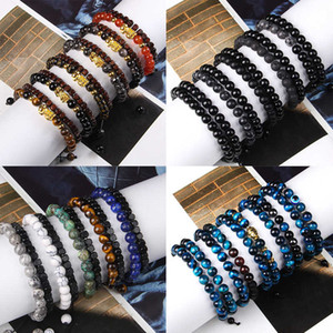 42 Types of Bracelets Sets Men Buddhism Wood Tiger Eye Stone Bangle Fengshui Bixie Charm Pulsera Hains