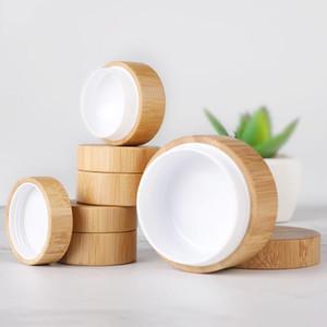 5ml 10ml 30ml Natürliches Bambus nachfüllbar Flasche Kosmetik Jar Box Makeup Creme Aufbewahrungstopf Container Runde Flasche Tragbar