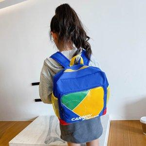 Lona crianças mochilas crianças kindergarten estudante saco de escola letra cópia miúdos bolsas de livro de alta capacidade mochila para meninos menina