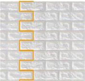 DIY auto adhesivo 3D Pegatinas de pared de ladrillo decoración de vida espuma impermeable cubierta de pared Fondo de pantalla para TV Background Kids Room 77 * 70 cm 144 V2