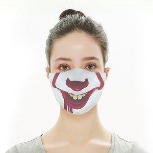 2021 3D Digital Printing Digital Protective Protective Adult Mask Maschera di cotone impermeabile Panno per il viso Commercio all'ingrosso Commerciale Personalizzazione del commercio estero