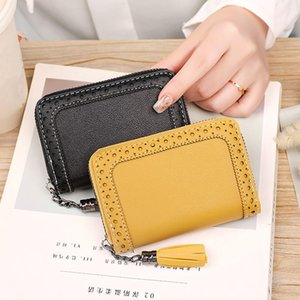 Card Holders Large Capacity Fashion Business Women's Small Short Zipper Wallets PU Leather Cute Coins Purses Money Clip Bag Case