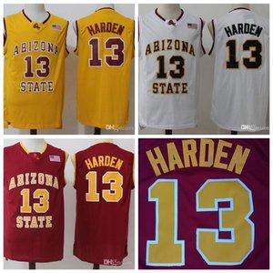 Корабль от нас Джейм 13 Harden ASU Баскетбол Джерси Аризона Государственный колледж Солнцезащитные дьяволы для болельщиков Рубашки S-XXL
