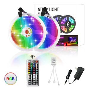 RGB LED Strip Light DC 12V SMD2835 10M RGB Color Changeable Flexible LED Light Tape with Adaptor and 44Key Remote Controller
