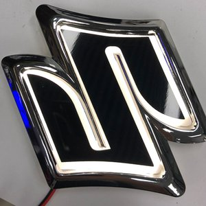 4D Car Logo LED Emblem Badge Light Rear Trunk Grille Decoration for Suzuki SWIFT Alto Wagon R Jimny Car Styling Accessories