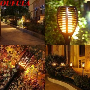 Solar Flame Lawn Light Torch Light Waterproof Outdoor Garden Control Induction Landscape Lights IP65 96 LEDS