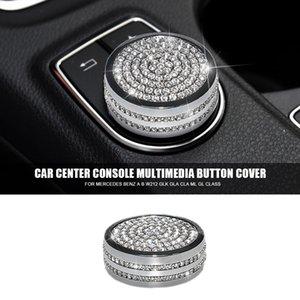Diamond Car Center Console Score Multimedia زر الديكور تريم غطاء لمرسيدس بنز A B212 GLK GLA CLA ML GL Class