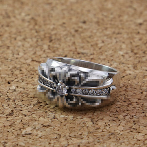 925 sterling silver handmade jewelry cross flower band rings with stones American European antique silver designer luxury jewelry nice gift