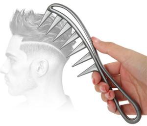 New Beuty Wide Whide Tiburón de plástico Peine de plástico Detangler Curly Hair Salon Peluquería Peine Masaje Herramienta de peinado para el cabello