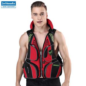 Men's Boating Fishing Vest Clothes Adult Paddle Board Vest Flotation Swimming Life Jacket Buoyancy Kayak Surfboard