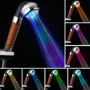 Controllo della temperatura a LED Attiltura della pioggia della pioggia della doccia della temperatura Spa Sensore della temperatura 7 Regalo del fulcro minerale del filtro minerale del risparmio energetico di colore