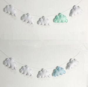 Nubes Colgando Drop Pendant Decor Baby Room Decoración Nórdica Wall Adorno para la fotografía Props Adorno del hogar GWE5185