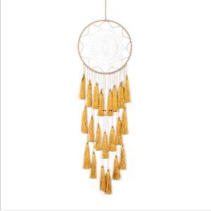 Dreamcatcher Hree Color Tassel Wind Chimes Handmade Dream Catcher Net Feathers Dreamcatcher Craft 선물 홈 인테리어 HWD5187