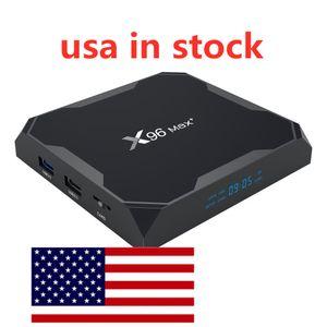 США В наличии X96 Max Plus Plus Android 9.0 TV Box 4GB Amlogic S905X3 8K 2.4G5G Dual Wi-Fi 1000m Установите верхнюю коробку