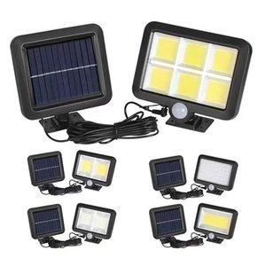 160cob güneş lambası açık insan vücudu indüksiyon su geçirmez hareket sensörü Bahçe duvar acil güvenlik sokak lambası 1 adet