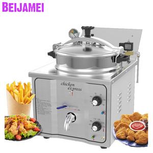 Beijamei 16L Fryer profundo Presión eléctrica Máquina de la fryer Pollo de Pollo Comercial Patatas Fryer Fash Food Shop