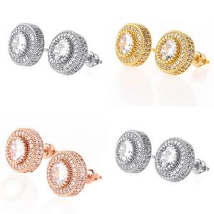 Luxury Designer Earrings Hip Hop Jewelry Fashion Earrings Mens Diamond Earings Iced Out Stud Earing Bling Rapper Men Hiphop Accessories 119