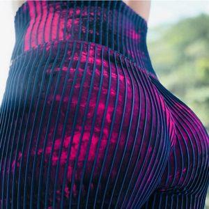 Nuevas jerginas de testicidad Buyoga Push up pulido delgado Pantalones de lápiz Fitness Impresión floral Running Sportswear Casual Pantalones
