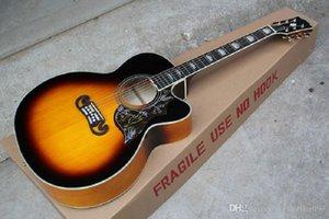 High Quality sj200 Acoustic Guitar Vintage Sunburst @32