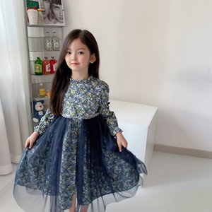 free shipping baby girls Lace dresses 2021 summer cotton clothes kids girls dresses tops three quarter sleeve dresses