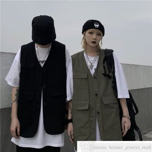 Ma Ge Ji Ma Korean Ins Spring Summer Trendy Loose Cargo Sleeveless Vest Outer Wear Cardigan Vest Coat for Men and Women
