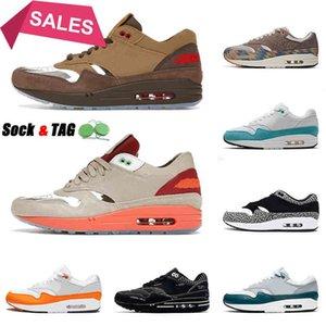 40-45 2021 도착 러닝 슈즈 멘스 여자 Max 1 Clot Cha Blick White N7 Taupe Haze Schematic Trainers Sneakers