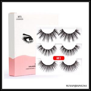 EPACK 3 Pares Magnéticos Eyelashes Falso Cílios + Líquido Eyeliner + Tweezer Eye Makeup Conjunto 3D Ímã Falso Eyelashes Natural Reutilizável Sem cola NE
