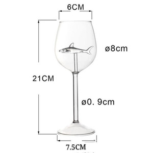 Transparent Goblet Original Elegance Red Wine Grape Standing Cup High Borosilicate Fashion Shark Woman Man Glass Home 10 8ly K2