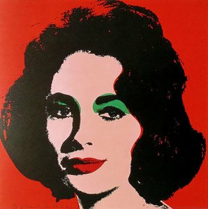 Andy Warhol LIZ 1964 Elizabeth Taylor Home Decor Handcrafts  HD Print Oil Painting On Canvas Wall Art Canvas Picture 210303