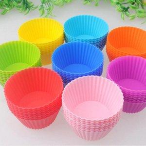 Strumenti di torta 10pcs Silicone fai da te cucinare tazza muffin colorato partito stampo cucina decorazione accessori