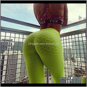 Jgs1996 Women'S High Waist Yoga Pants Anti-Cellulite Slimming Booty Leggings Workout Running Bulift Tights Smt3I Def45
